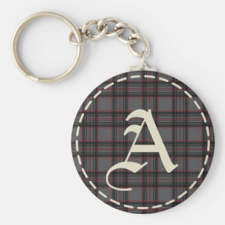 Monogrammed Letter A Keychain