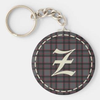 Monogrammed Letter Z  Keychain