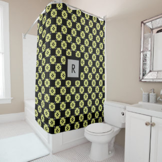 Green Curtains black and green curtains : Black And Lime Green Shower Curtains | Zazzle