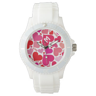 Monogrammed Love Hearts Sweet Gift Wristwatches