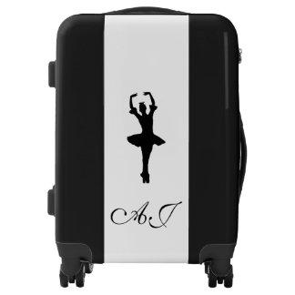 Monogrammed luggage trolley ballerina silhouette
