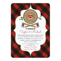 Monogrammed Lumberjack and Jill Wedding Shower Card