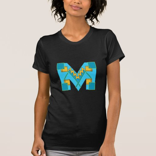Monogrammed M Art Deco Tshirt