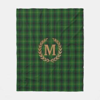 Monogrammed MacArthur Tartan Fleece Blanket