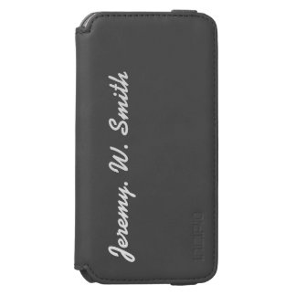 Monogrammed masculine name PERSONALIZE iPhone 6/6s Wallet Case