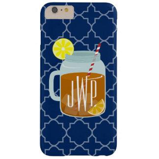 Monogrammed Mason Jar Sweet Tea - Navy Quatrefoil Barely There iPhone 6 Plus Case