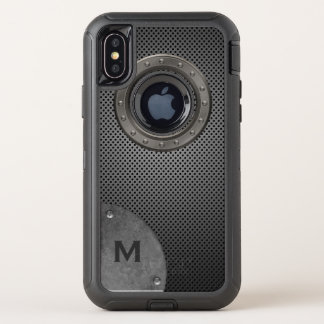 Monogrammed Metallic Look iPhone X Otterbox Case