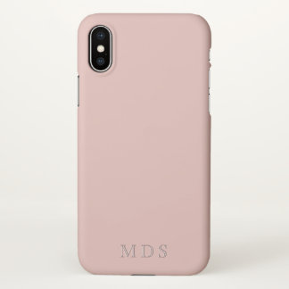 Monogrammed Millennial Pink iPhone X Phone Case