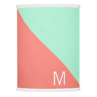 Colored Lamp Shades coral lamp shades | zazzle