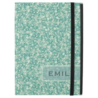 Monogrammed Mint Green Glitter And Sparkles