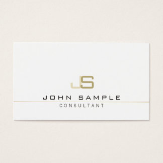 Monogrammed Modern Professional Elegant Consultant Business Card