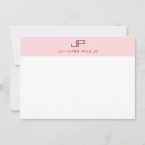 Monogrammed Modish Blush Pink Minimalist Template