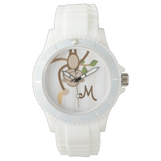 Monogrammed Monkey Banana Wrist Watch