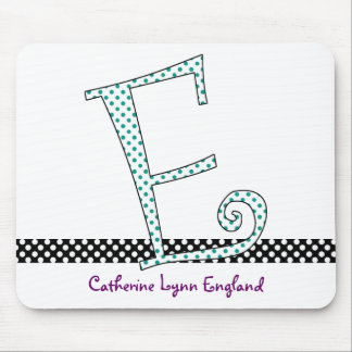 Monogrammed Mouse Pad - Letter E