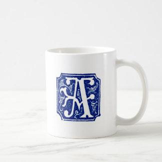 Monogrammed Mug - Letter A