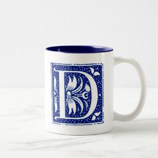 Monogrammed Mug - Letter D