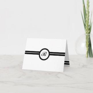 Monogrammed Multipurpose Professional Note Card