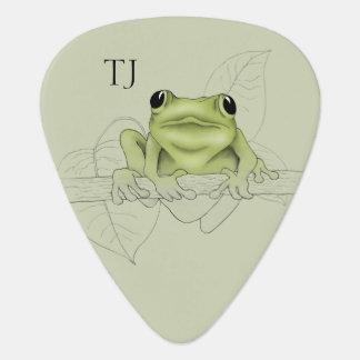 Monogrammed Musical Tree Frog Guitar Pick