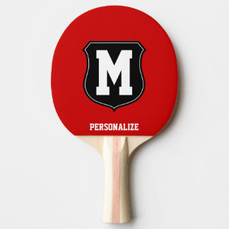 Monogrammed name ping pong paddle for table tennis