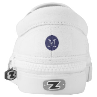 Monogrammed Nautical Stripes w/Captain's Wheel Printed Shoes