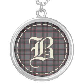 Monogrammed Necklace Letter B