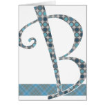 Monogrammed Note Card - Letter B