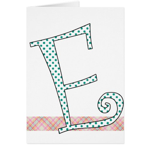 Monogrammed Note Card - Letter E