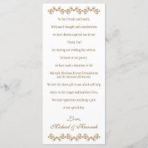 Monogrammed Orange Gold Moroccan Wedding Charity