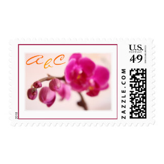 Monogrammed Orchid Stamp
