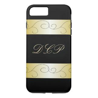 Monogrammed Ornate Black Gold Trendy CricketDiane iPhone 8 Plus/7 Plus Case