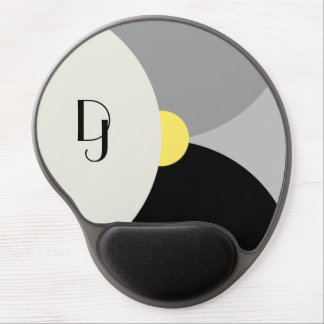 Monogrammed Overlapping Circles Mousepad Gel Mouse Mat