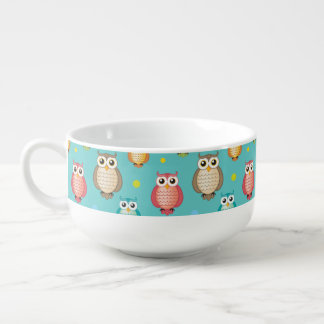 Monogrammed Owls Pattern Mug