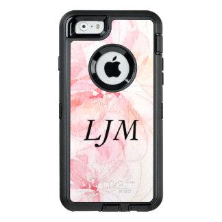 Monogrammed Pastel Pink Floral Watercolor Case