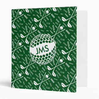 Monogrammed Pattern for the Golfer Binder
