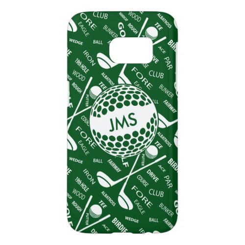 Monogrammed Pattern for the Golfer Phone Case