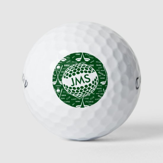 Monogrammed Pattern for the Golfer Golf Balls