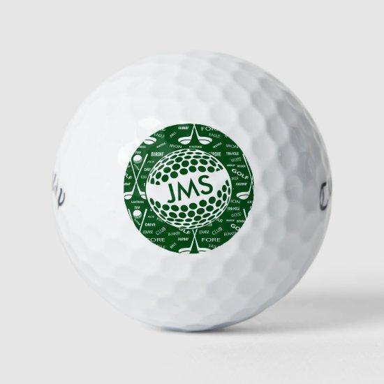 Monogrammed Pattern for the Golfer Golf Balls