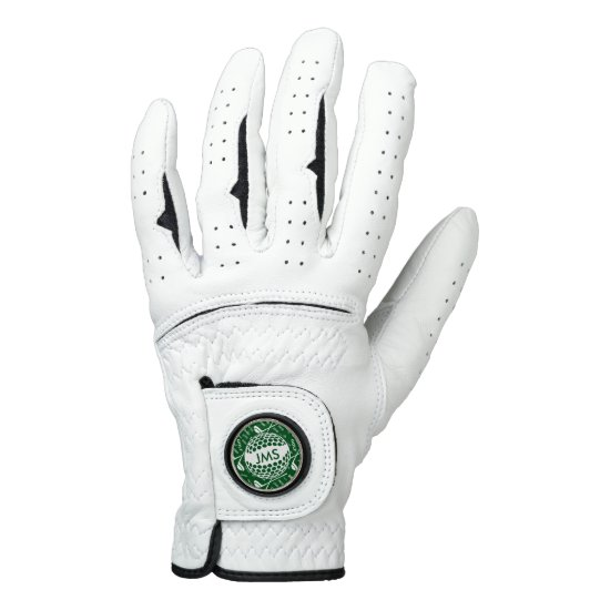 Monogrammed Pattern for the Golfer Golf Glove