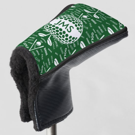 Monogrammed Pattern for the Golfer Golf Head Cover