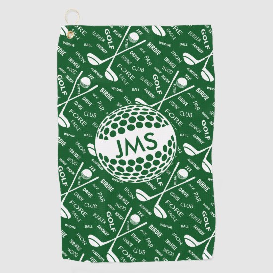 Monogrammed Pattern for the Golfer Golf Towel