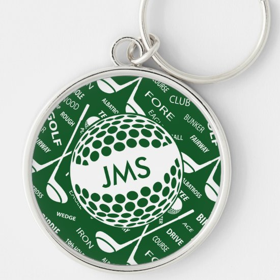 Monogrammed Pattern for the Golfer Keychain