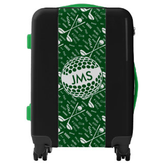 Monogrammed Pattern for the Golfer Luggage