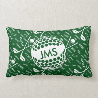 Monogrammed Pattern for the Golfer Pillow