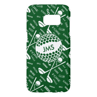 Monogrammed Pattern for the Golfer Samsung Galaxy S7 Case