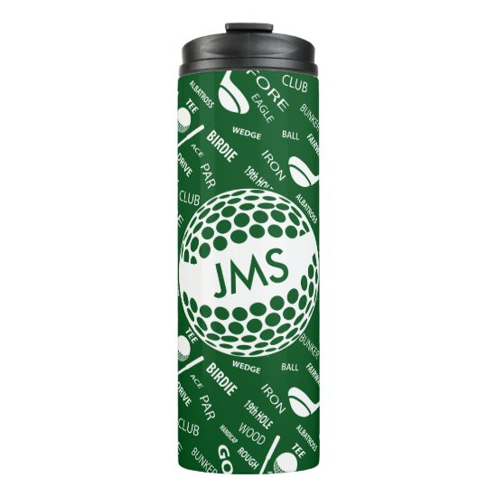Monogrammed Pattern for the Golfer Thermal Tumbler