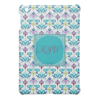 Monogrammed Peacock Damask Case For The iPad Mini
