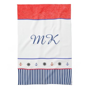 Beach Themed Monogrammed Personalized Beach House Hand Towel