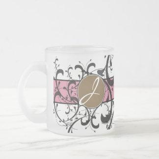 Monogrammed Personalized Fancy Flourish Mugs