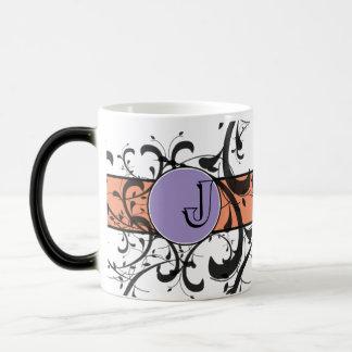 Monogrammed Personalized Fancy Flourish Coffee Mug