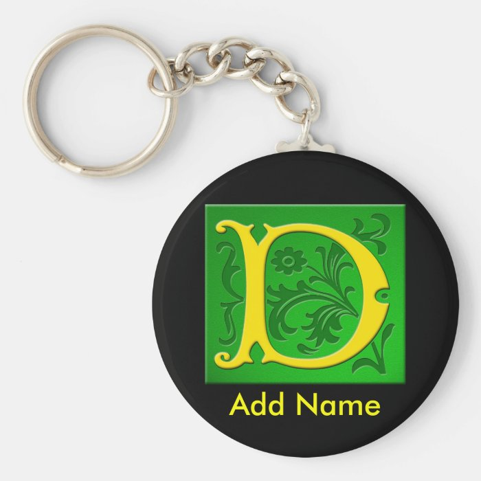 Monogrammed Personalized Keychain